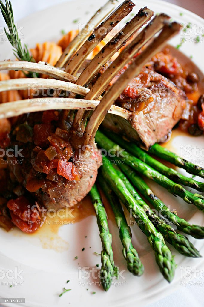 Rack of lamb tight from top royalty-free stock photo