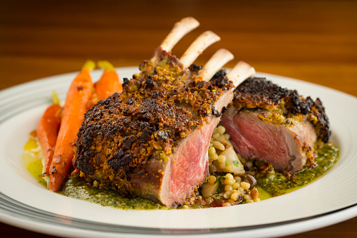 Rack Of Lamb With Carrots Stock Photo - Download Image Now