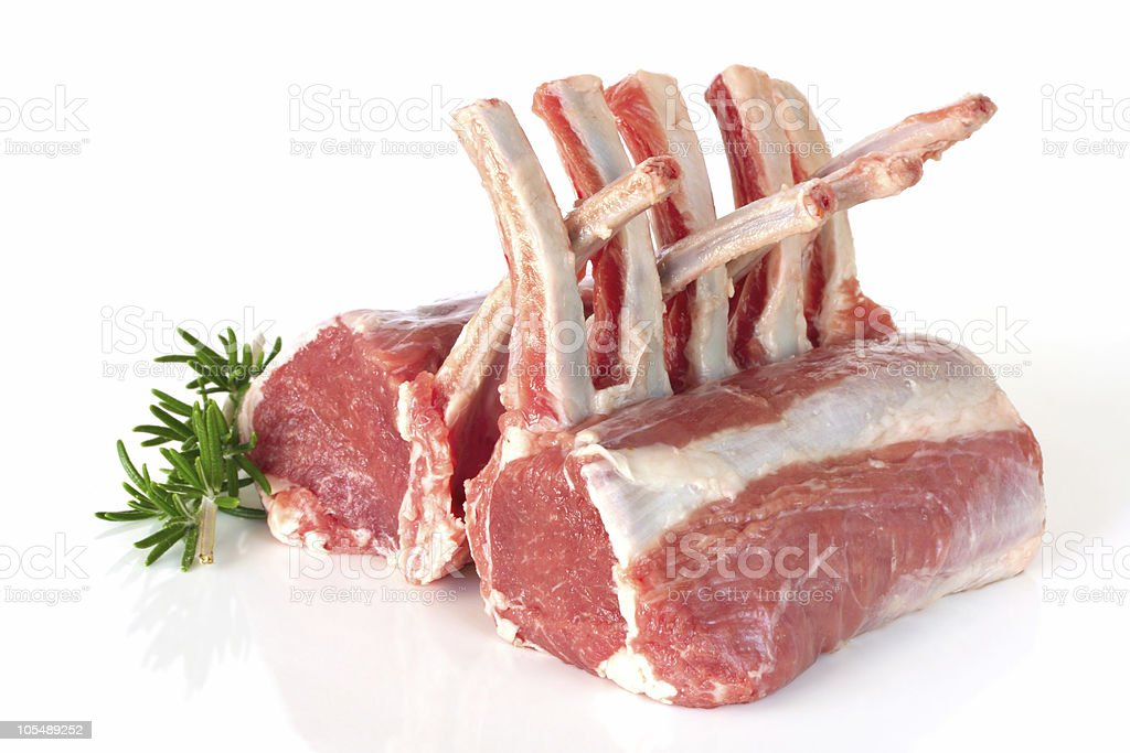 Rack of Lamb with Rosemary royalty-free stock photo