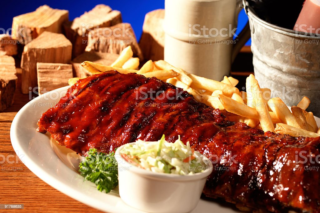 Rack of Ribs royalty-free stock photo