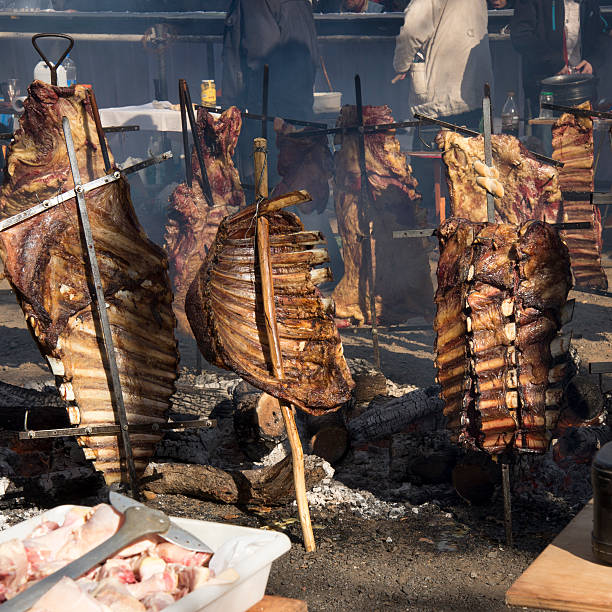 Rack of Ribs Roasted on Crosses 01 stock photo