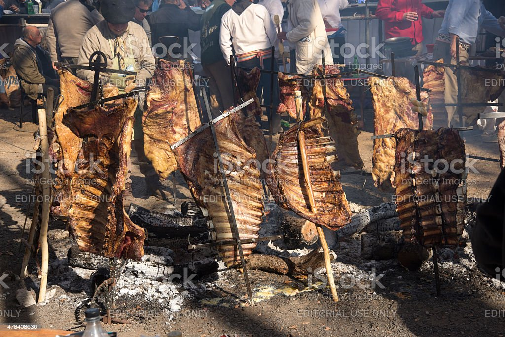 Rack of Ribs Roasted on Crosses 03 royalty-free stock photo