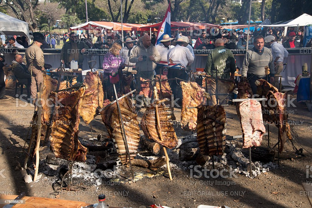 Rack of Ribs Roasted on Crosses 04 royalty-free stock photo