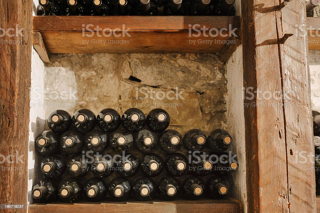 Rack of wine royalty-free stock photo