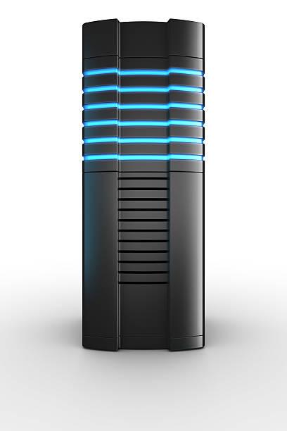 Rack-server auf weißem Hintergrund – Foto