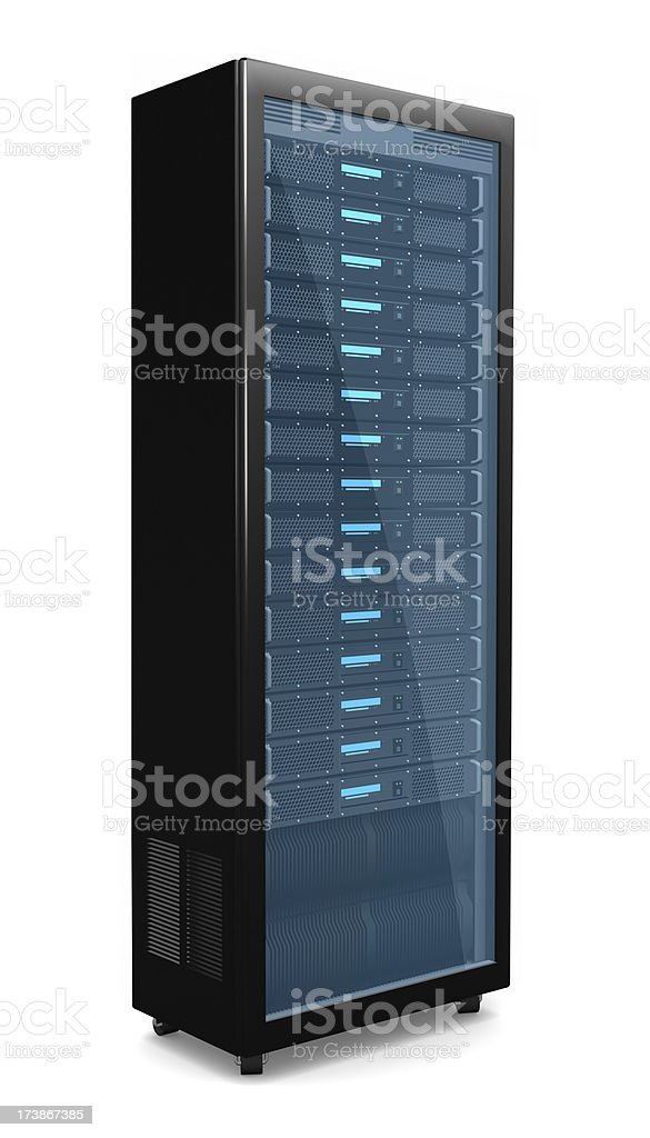 Rack server royalty-free stock photo