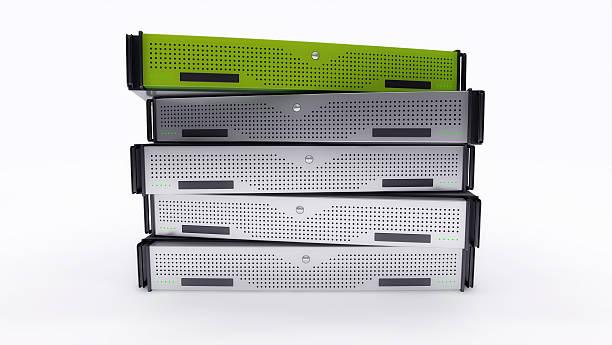 Rack Servers Green stock photo