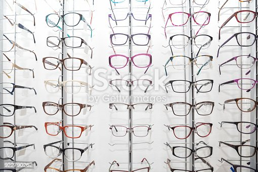 istock Rack with frames for glasses 922790262
