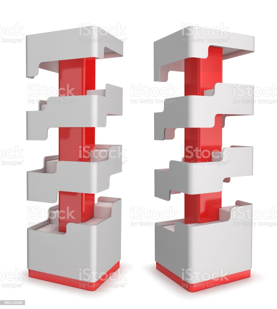 Rack with shelves for shops royalty-free stock photo