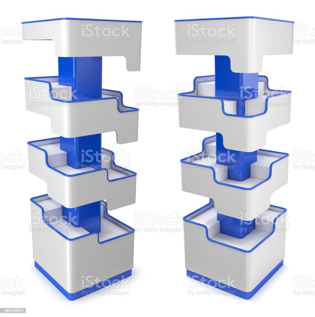 Rack avec des étagères pour magasins - Photo de Affaires libre de droits