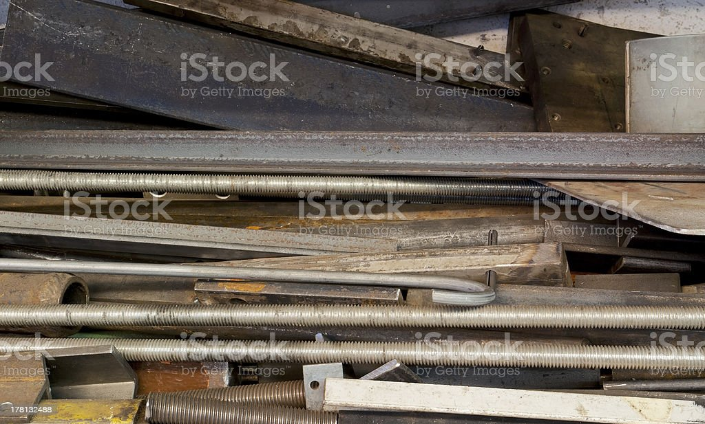 rack with steel parts royalty-free stock photo