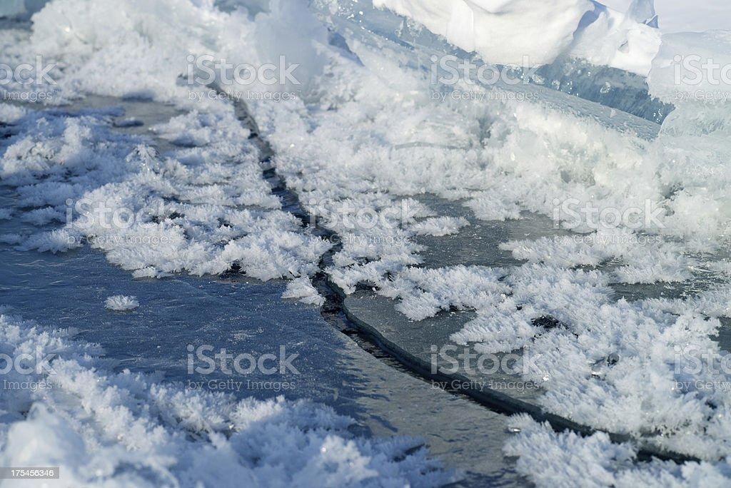 Сracked ice royalty-free stock photo