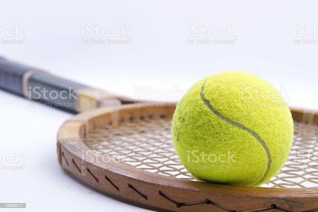 Racket and ball royalty-free stock photo