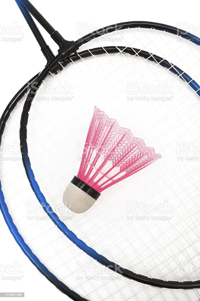 racket and shuttlecock badminton royalty-free stock photo