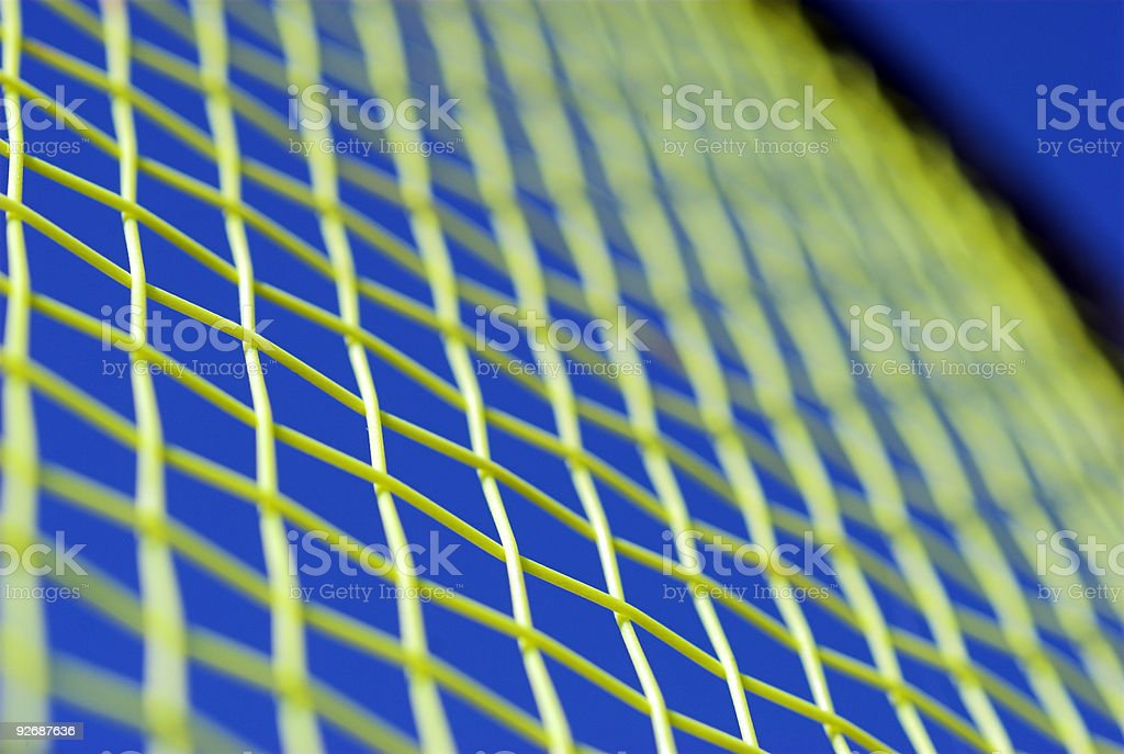 Racket and strings close-up stock photo