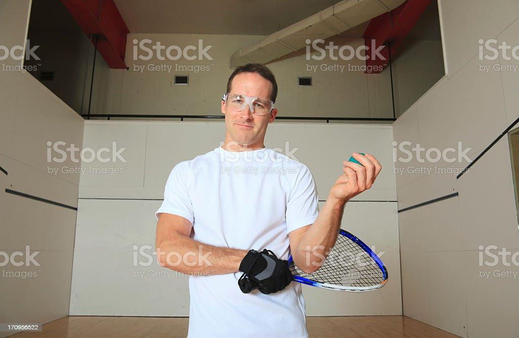 Racket-ball Ball Player Portrait royalty-free stock photo