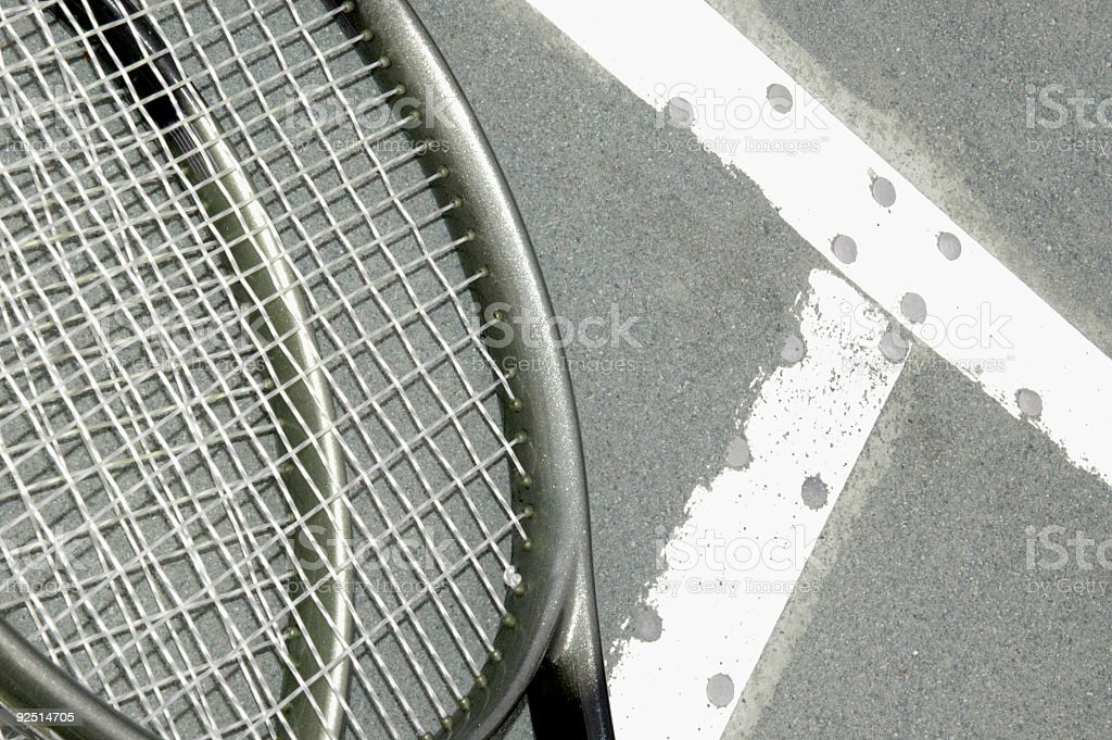 rackets on the T royalty-free stock photo