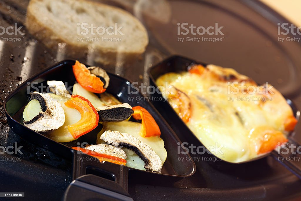 Raclette ,a Swiss Gourmet Meal stock photo
