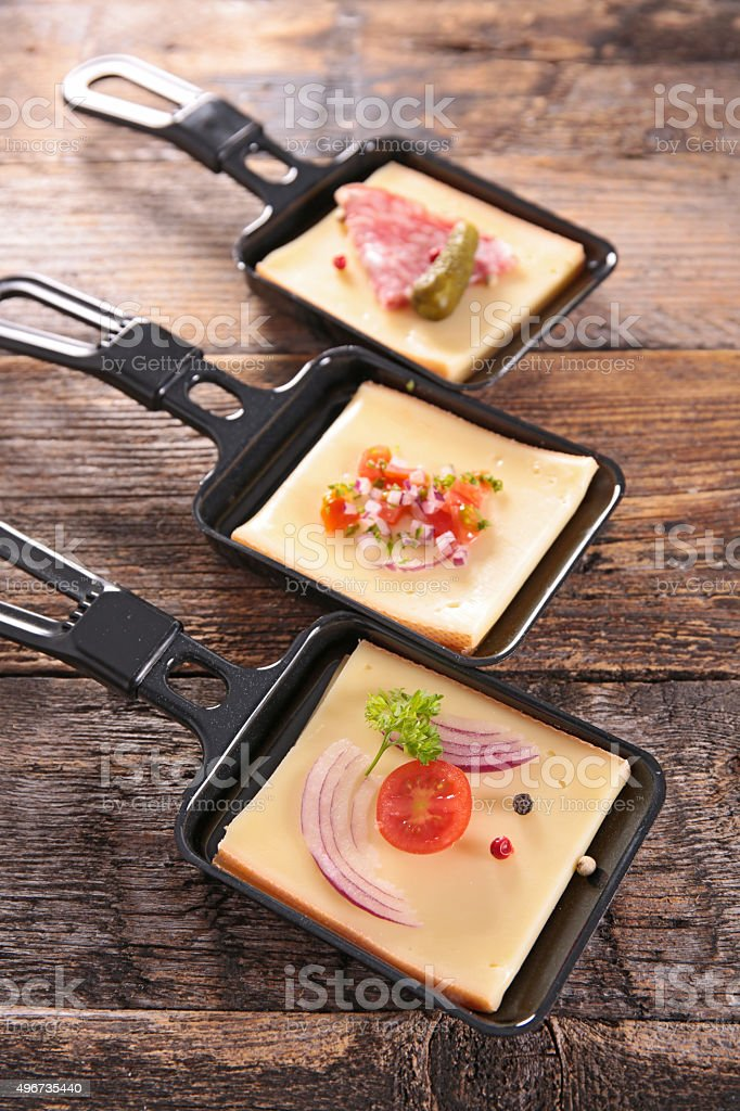 raclette cheese stock photo