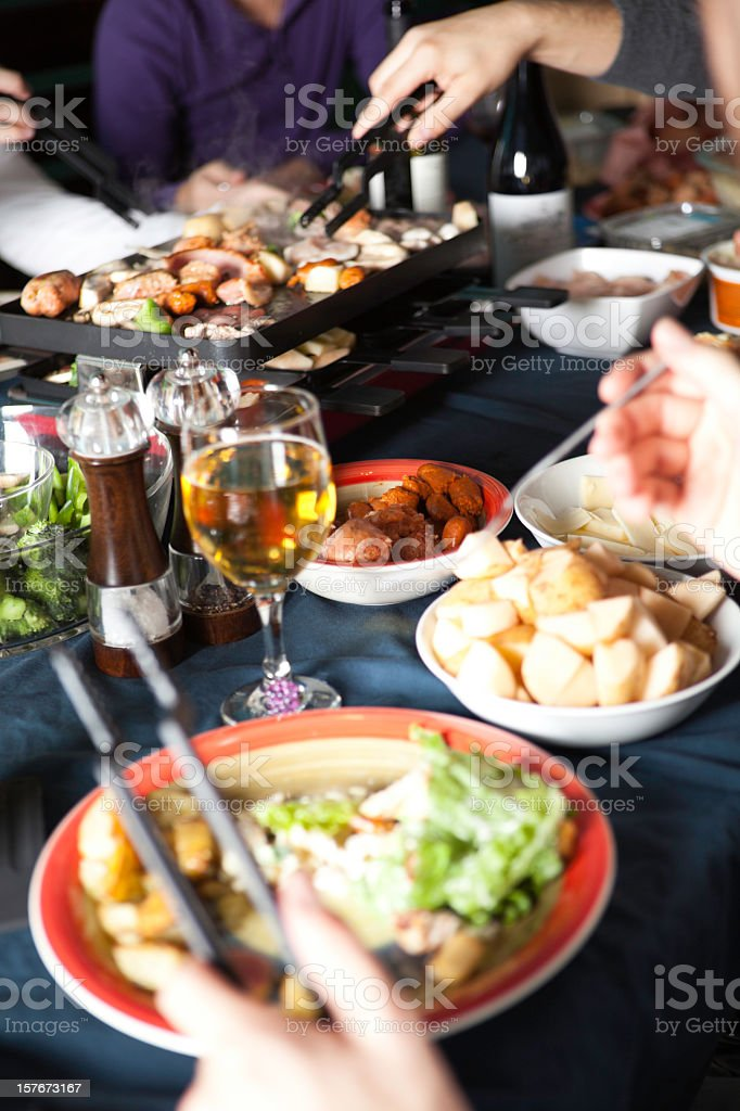 Raclette Food royalty-free stock photo