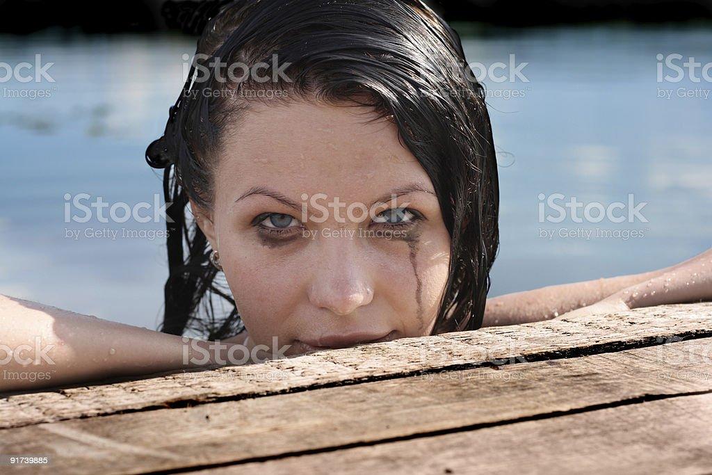 Racoon eyes stock photo