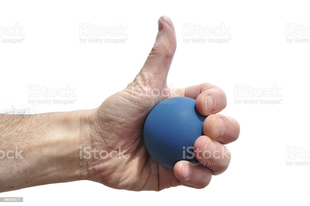 Racquetball Player Giving Thumbs Up Sign royalty-free stock photo
