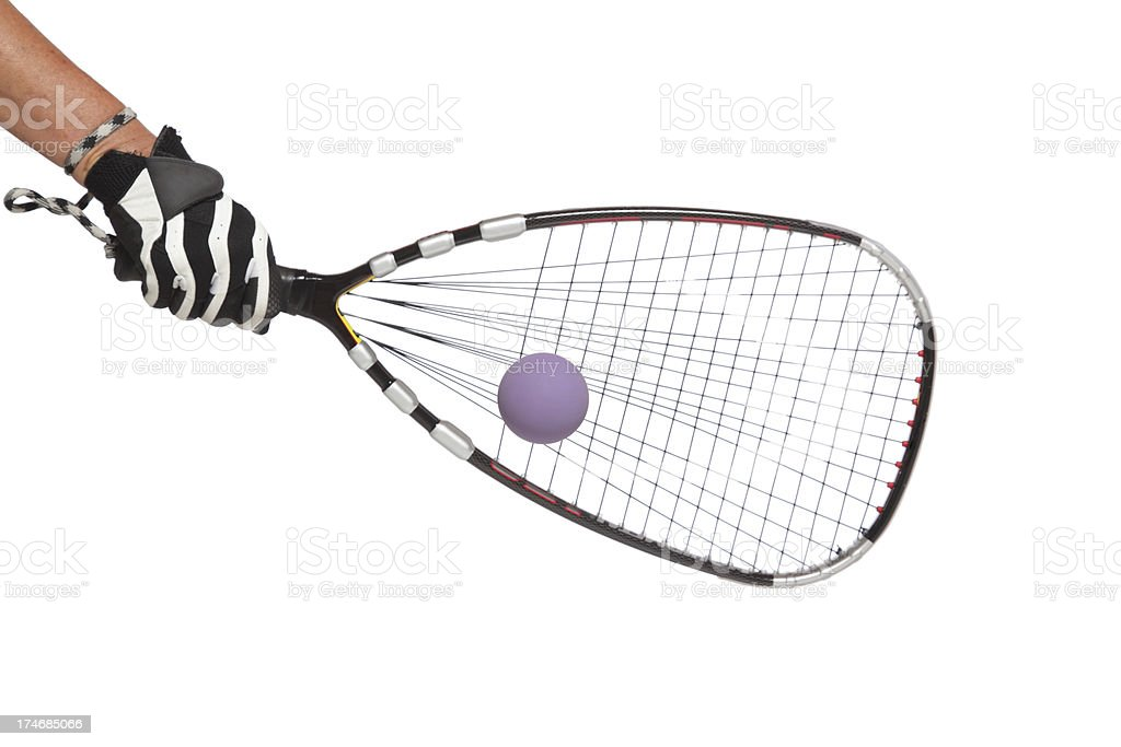 Racquetball Strikes Racket royalty-free stock photo