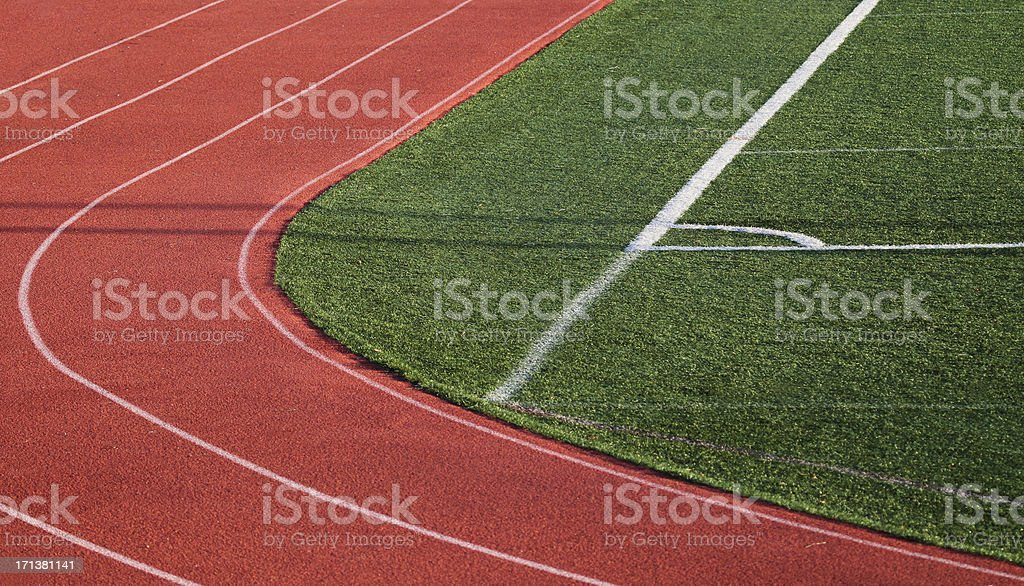 Ractrack Curve royalty-free stock photo