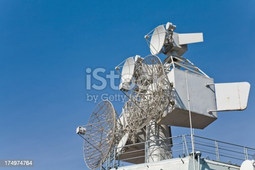 istock Radar and bridge of Russian aircraft carrier 174974764