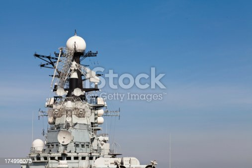 istock Radar and bridge of Russian aircraft carrier 174998073