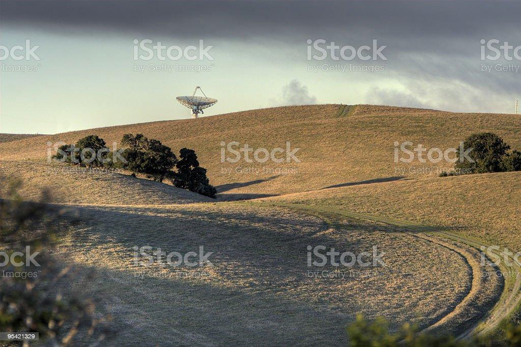 Radar plat sur une colline - Photo