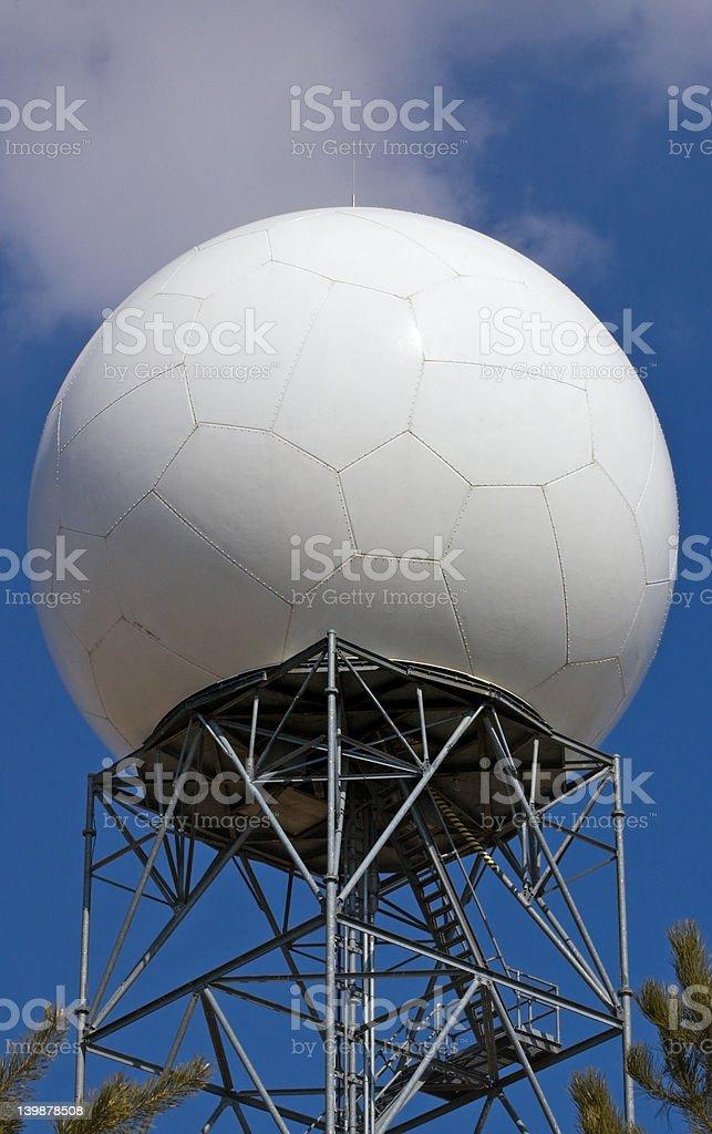 Radar Dome Close Up royalty-free stock photo
