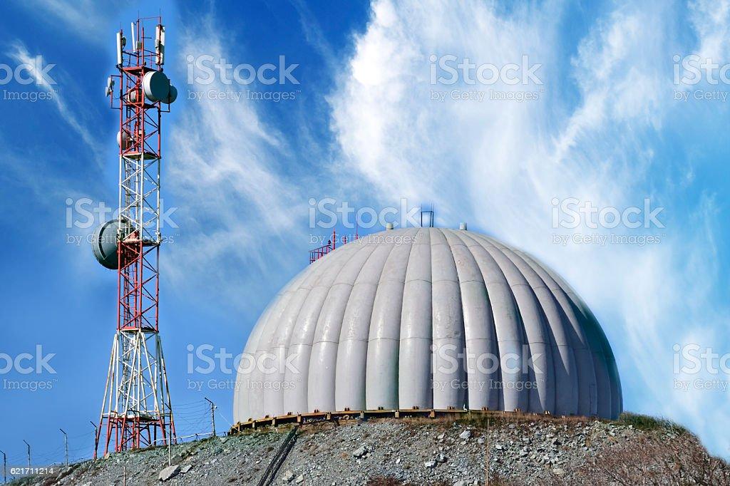 radar dome technology stock photo