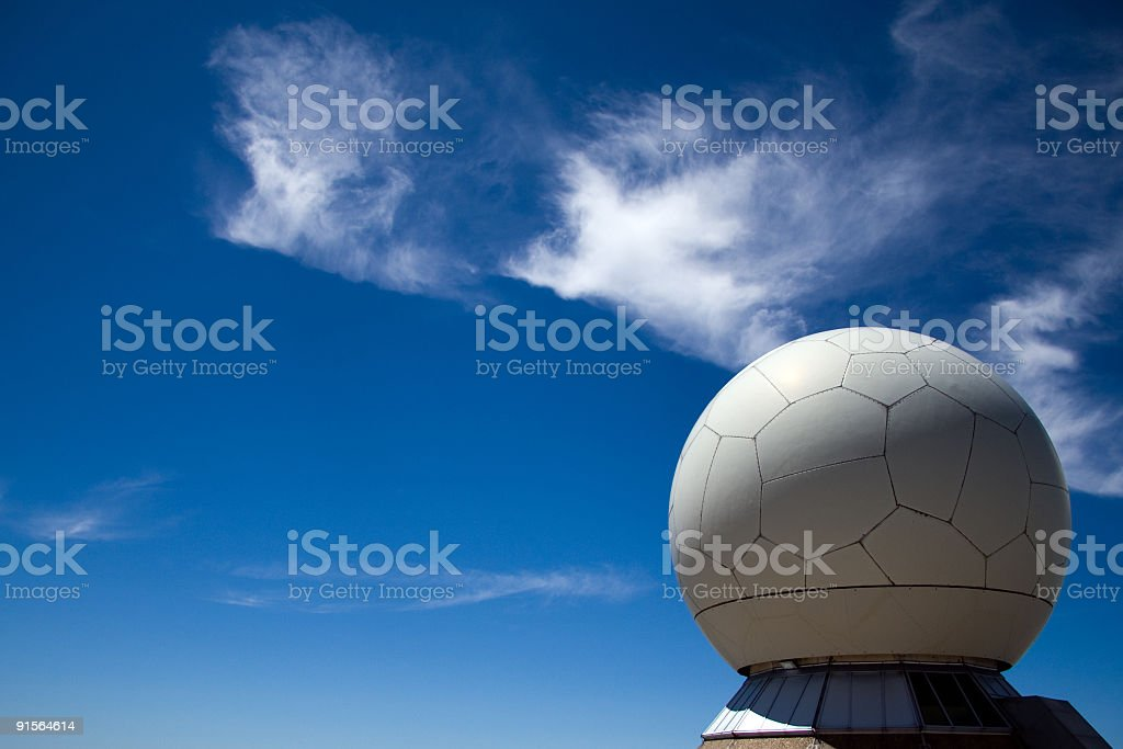 Radar Guiding System royalty-free stock photo