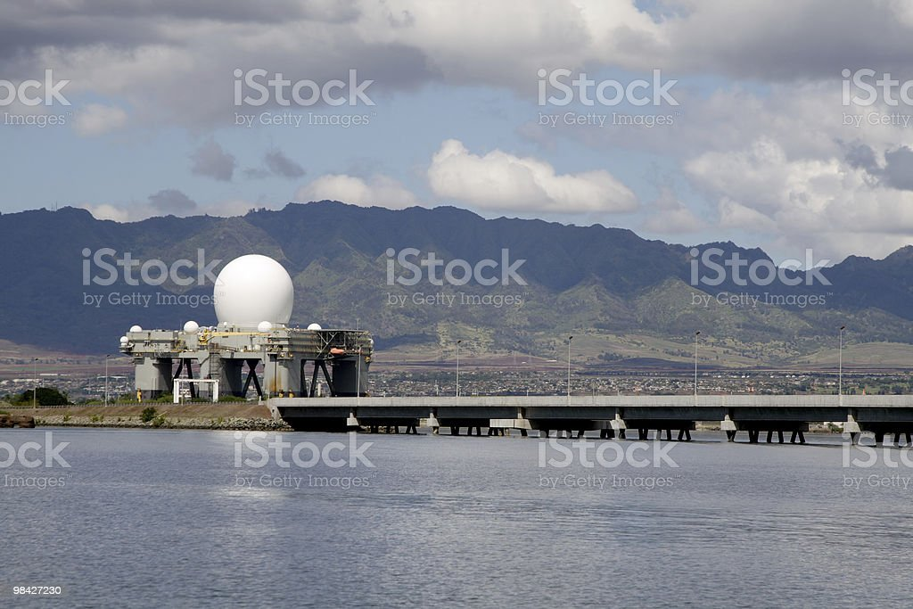 SBX Radar in Pearl Harbor royalty-free stock photo