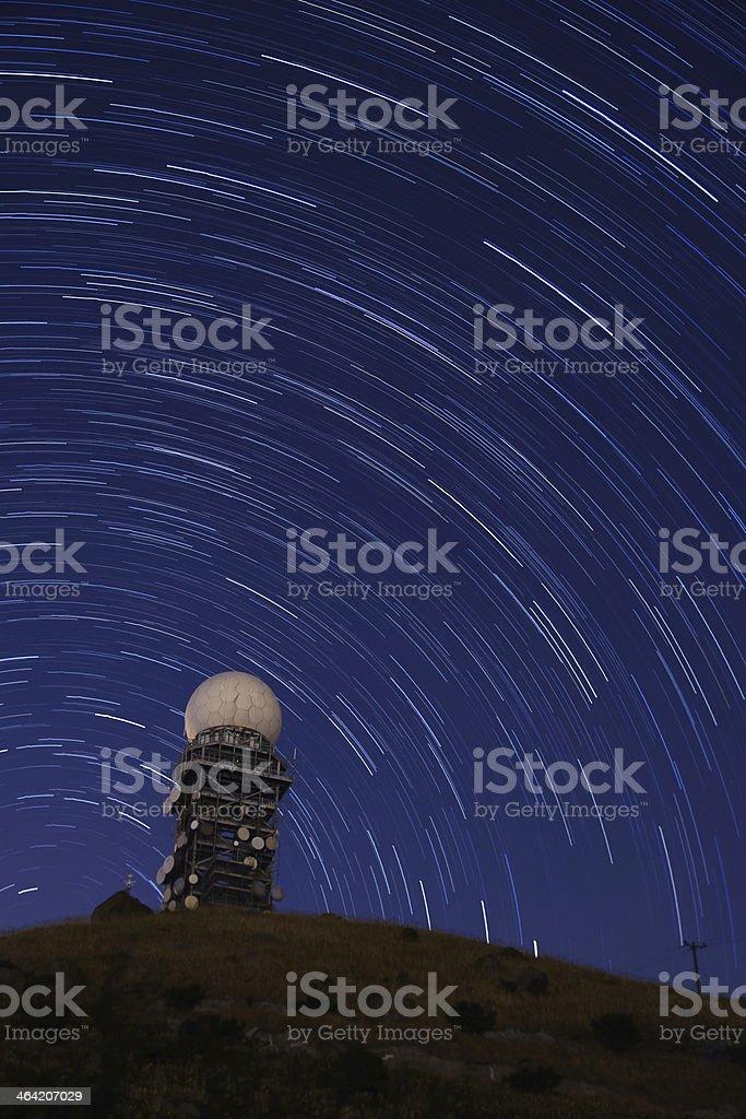 Radar observation under star trail sky