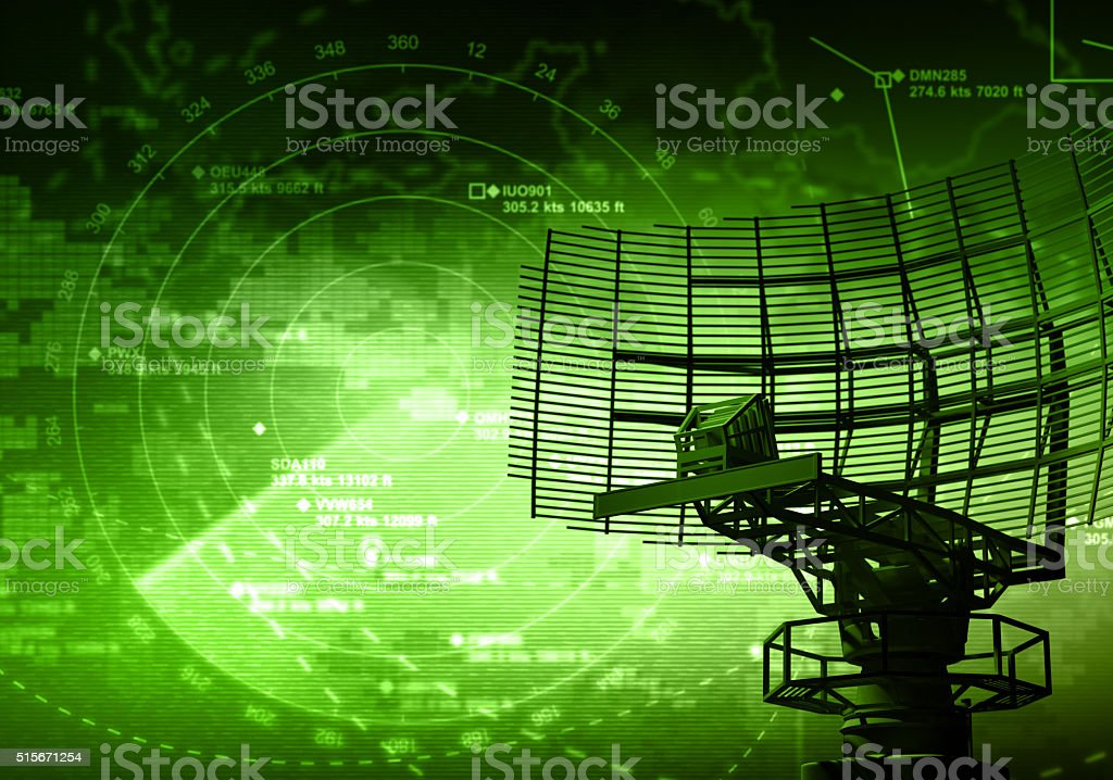 Radar Radar with targets in action Abstract Stock Photo