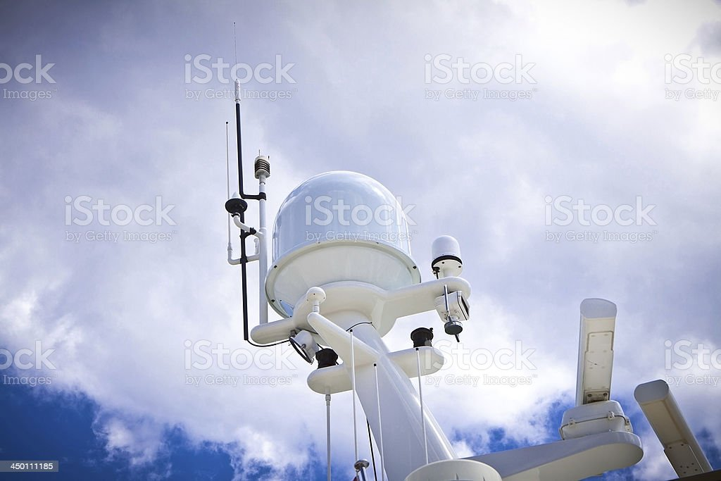 radar, safety equipment onboard yacht royalty-free stock photo