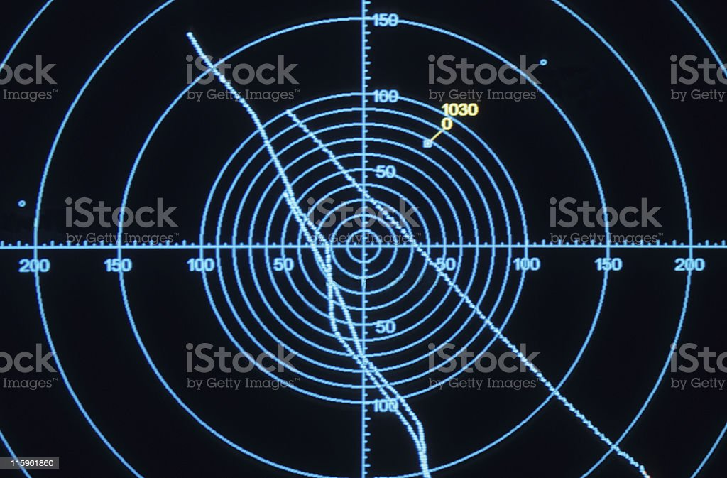 Radar screen royalty-free stock photo
