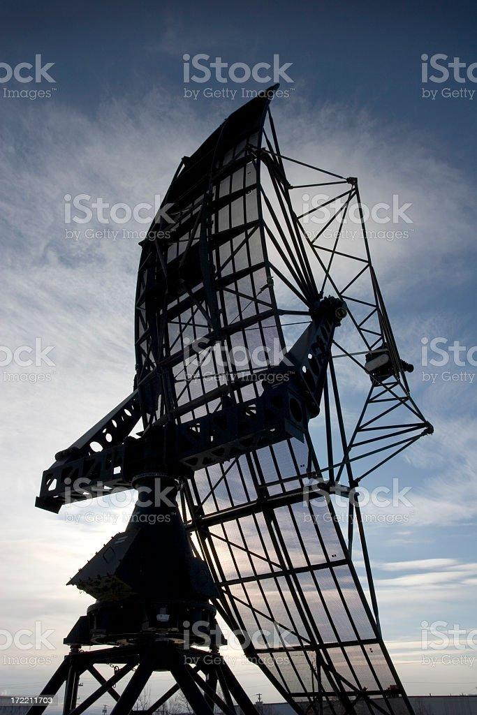 Radar Silhouette royalty-free stock photo