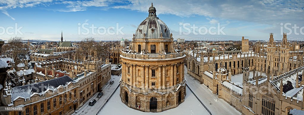 Radcliffe Camera and All Souls College 1438 stock photo