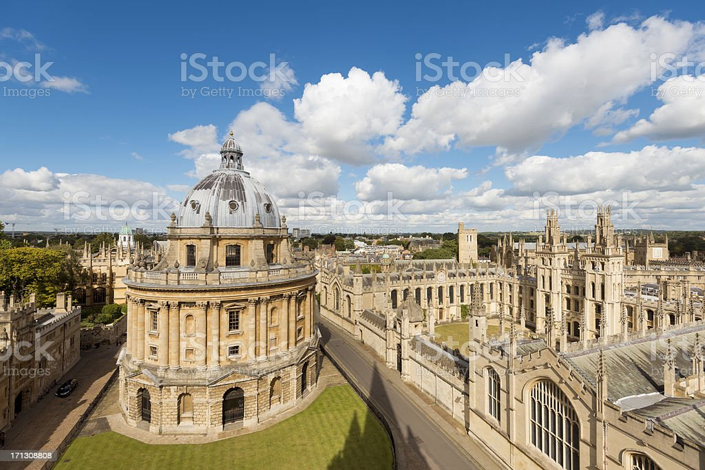 Radcliffe Camera and All Souls College in Oxford stock photo