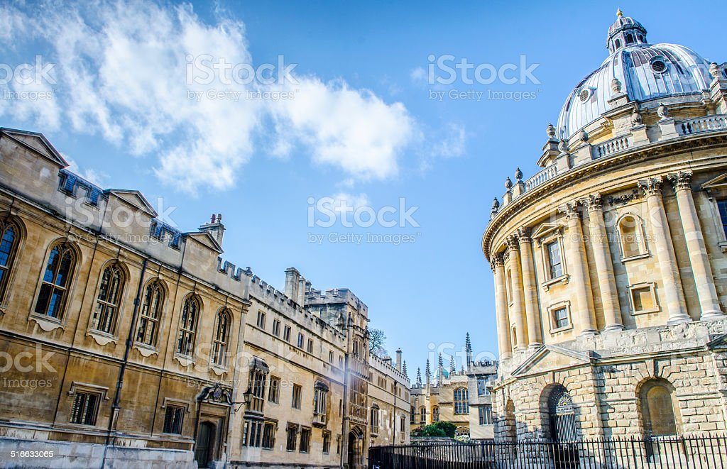 Radcliffe Camera at the university of Oxford stock photo