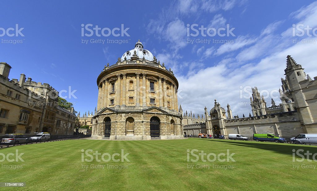 Radcliffe Camera Building in Oxford stock photo