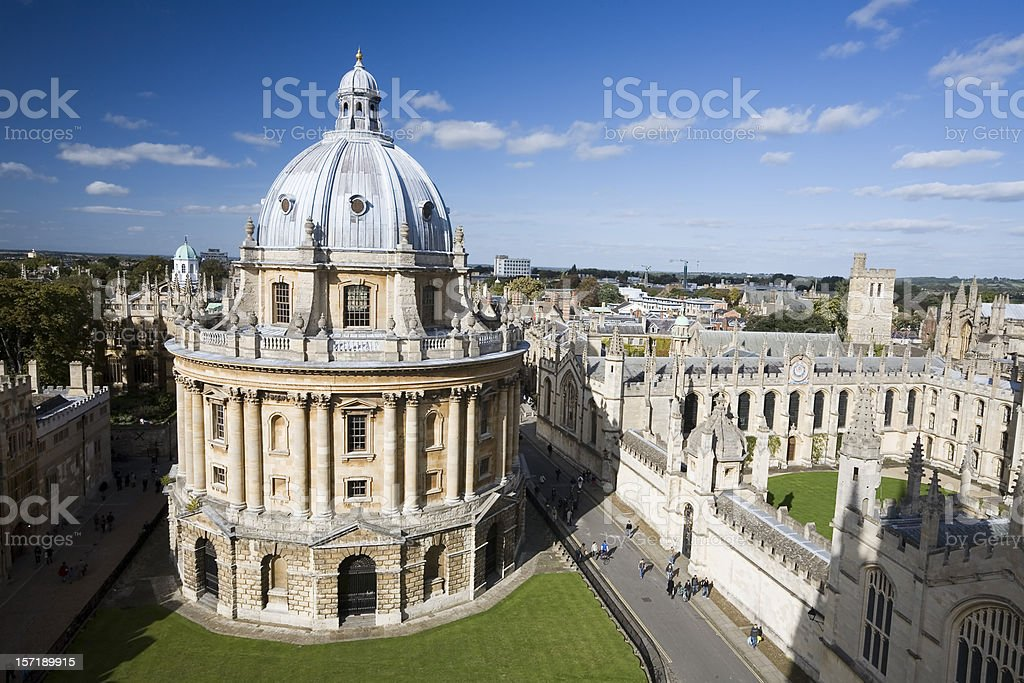 Radcliffe Camera from above stock photo
