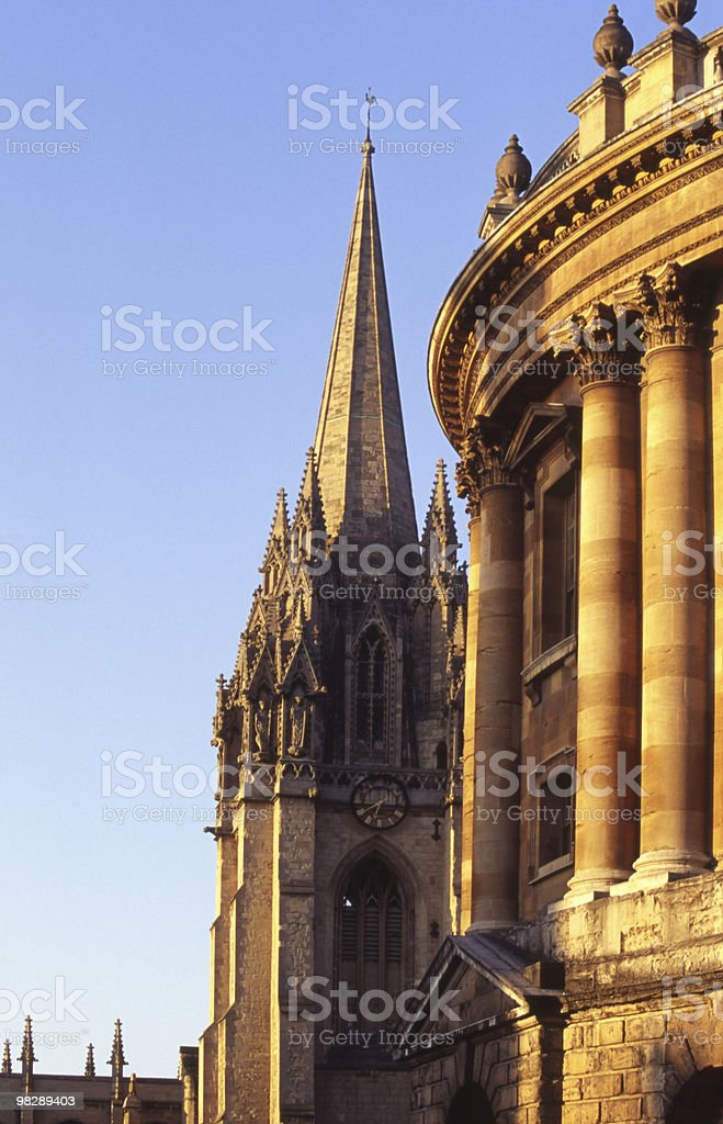 Radcliffe Square, Oxford, Inghilterra foto stock royalty-free