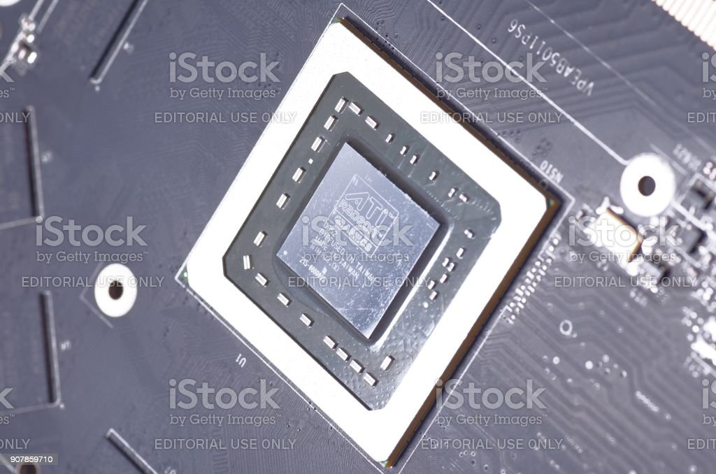 ATI Radeon stock photo