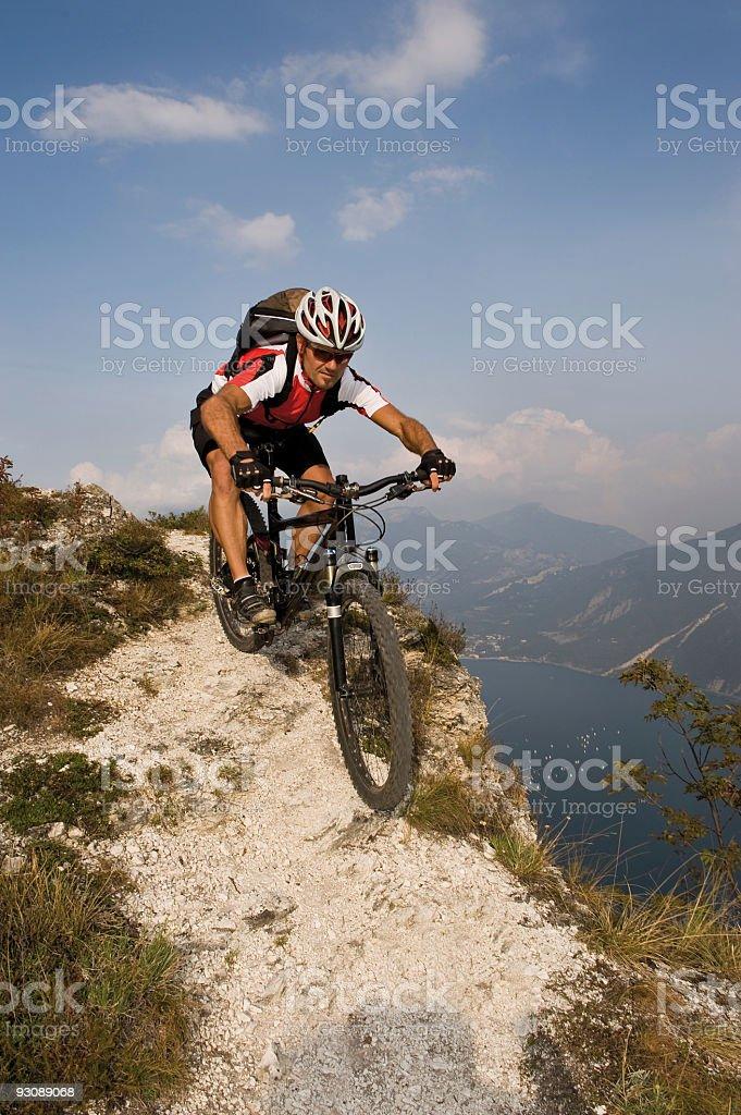 Radfahrer im Gebirge royalty-free stock photo