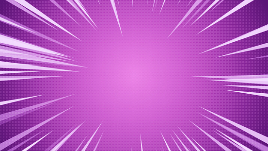 istock Radial Background of halftones and high-speed abstract lines for Anime 3d illustration 1028900988