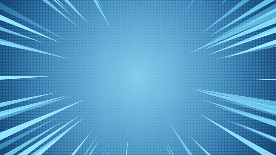 istock Radial Background of halftones and high-speed abstract lines for Anime 3d illustration 1028900996